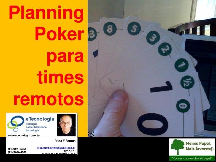 Planning                                             PokerTutorial: Planning Poker Para Times Remotos                     ...