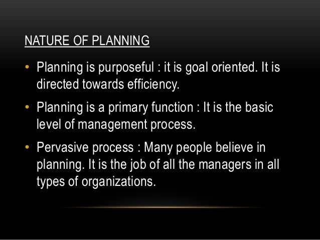 nature of planning ppt