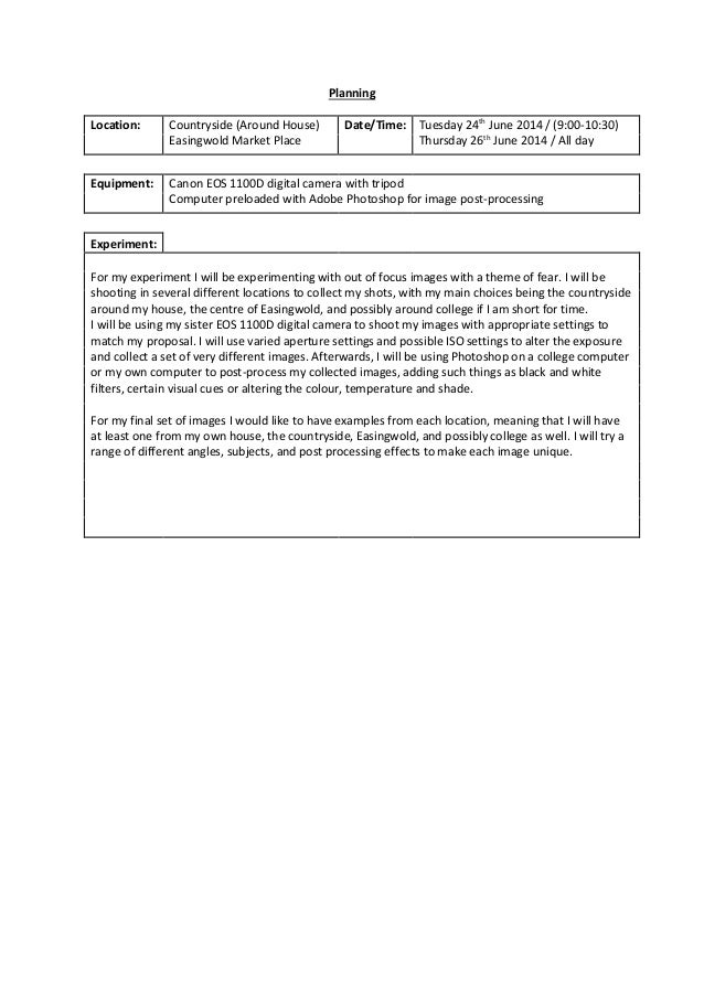 Planning Location: Countryside (Around House) Easingwold Market Place Date/Time: Tuesday 24th June 2014 / (9:00-10:30) Thu...