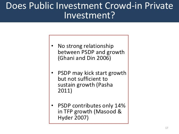 Does Public Investment Crowd-in Private              Investment?          • No strong relationship            between PSDP...