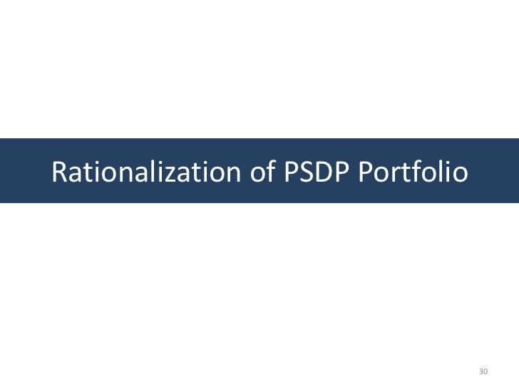 Rationalization of PSDP Portfolio                                    30