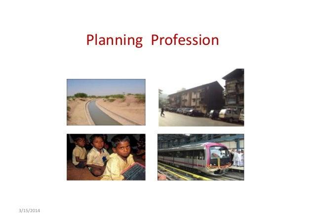 Planning Profession 3/15/2014