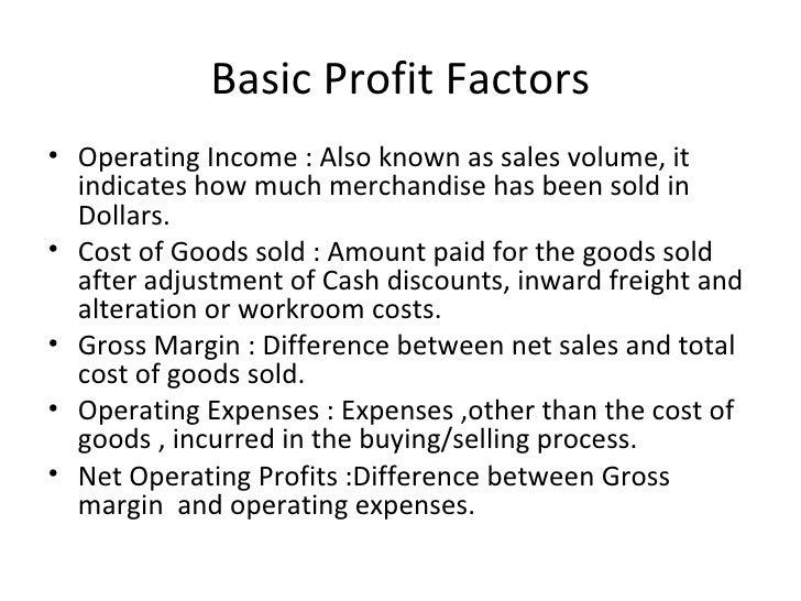 planning profit factors 1