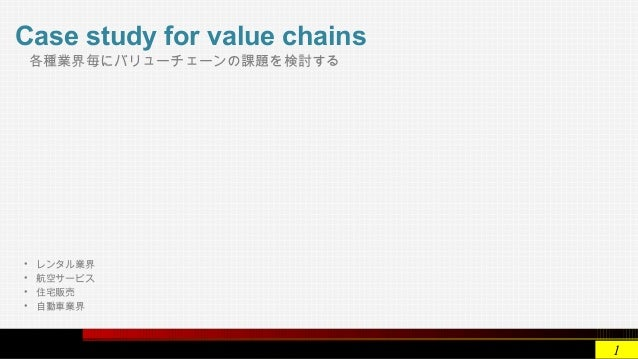 case 7 value chains where when and Value chain analysis of procter and gamble case study value chain analysis describes the activities that take place in a business and relates them to an analysis.