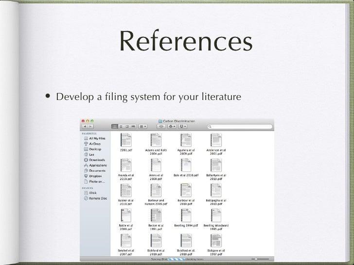 Dissertation filing system