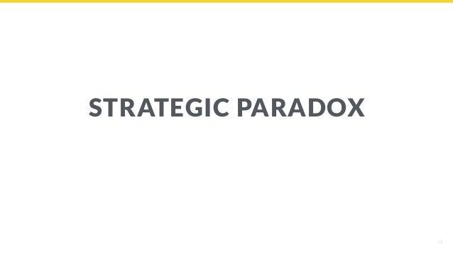 18 STRATEGIC PARADOX
