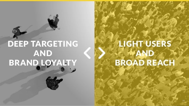 DEEP TARGETING AND BRAND LOYALTY 20 LIGHT USERS AND BROAD REACH