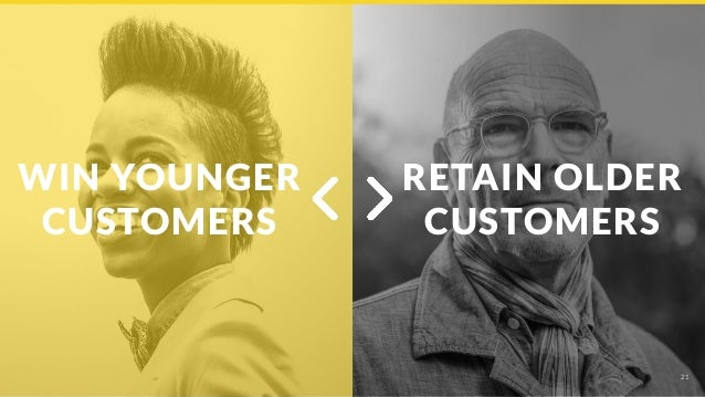 21 WIN YOUNGER CUSTOMERS RETAIN OLDER CUSTOMERS