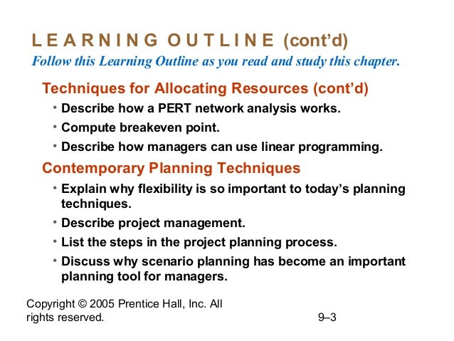 3 explain different planning techniques Data presentation and analysis is crucial for any project which involves collection of data which needs to be processed and presented  planning techniques .