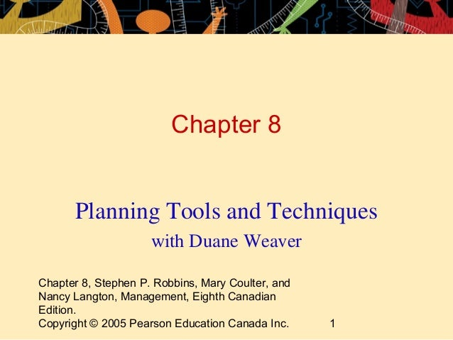 Planning tools and techniques management for Planning tools