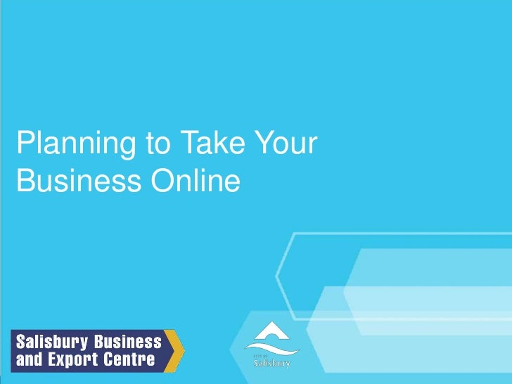 Planning to Take Your Business Online<br />