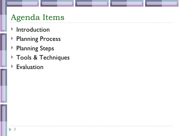 Process of Project Planning Slide 2