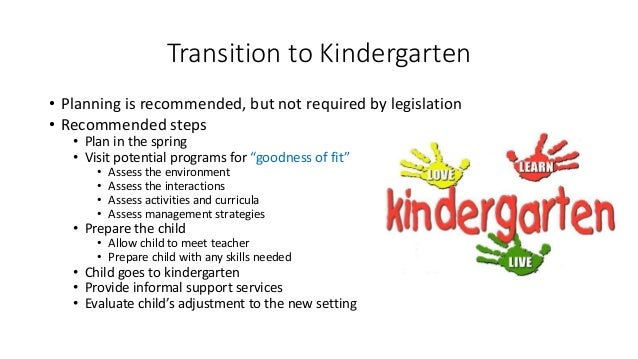 Kinder Garden: Planning Transitions To Support Inclusion
