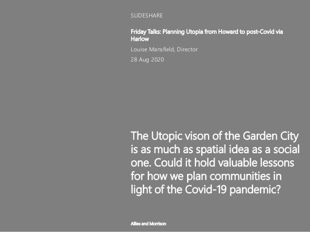 The Utopic vison of the Garden City is as much as spatial idea as a social one. Could it hold valuable lessons for how we ...