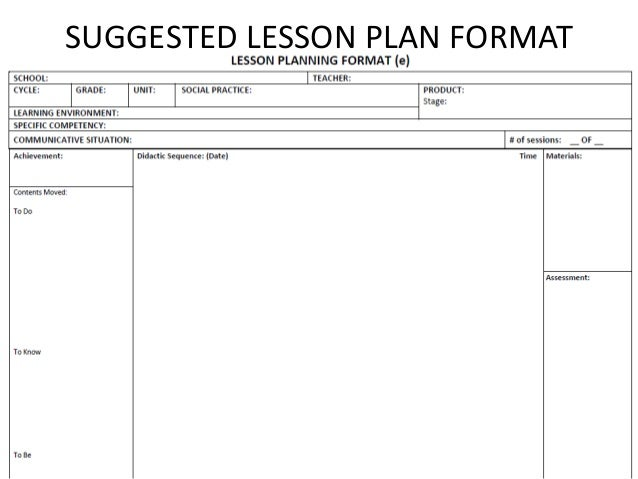 How To Use The Nepbe Syllabus In A Given Lesson Plan Format