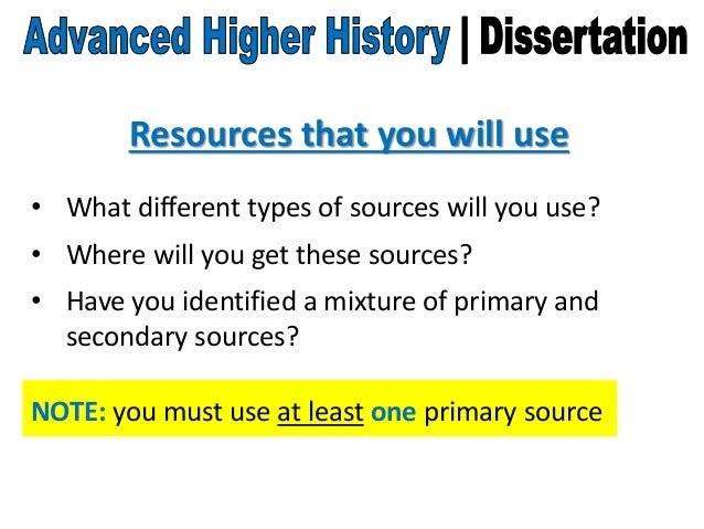 Advanced higher history dissertation help