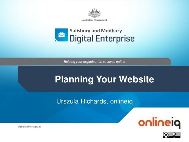 Urszula Richards, onlineiq Salisbury and Modbury Planning Your Website