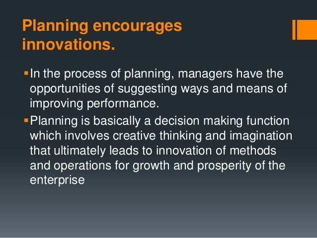 plannning and types of planning