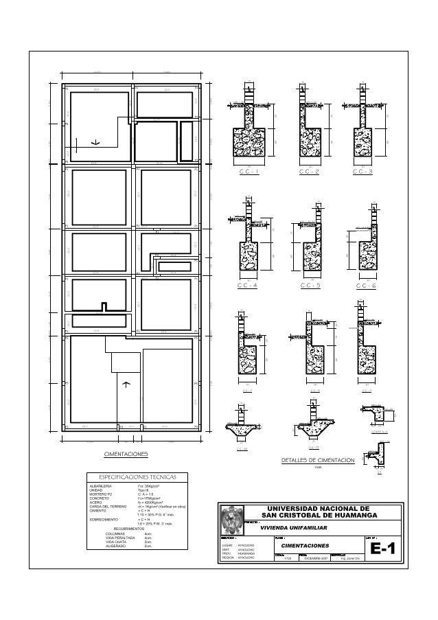 Plano 03 cimentacion for Planos estructurales pdf