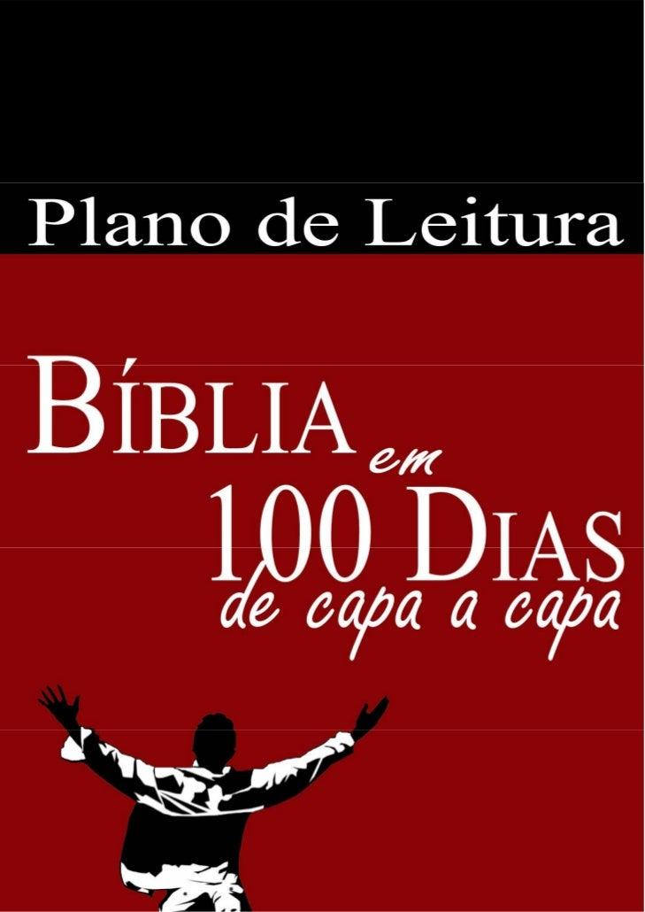 Plano de Leitura da Bíblia em 100 dias com Domingos Livres                            (recorte e deixe em sua Bíblia para ...