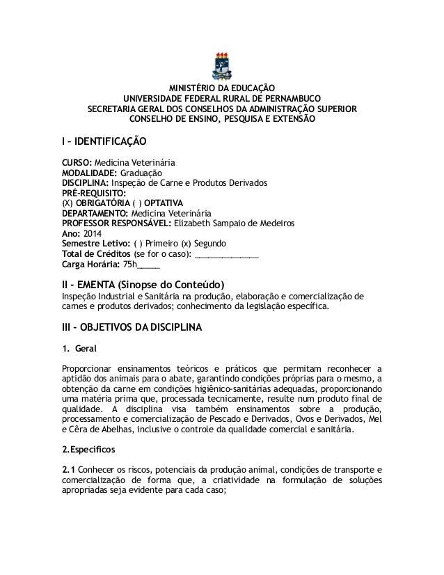 MINISTÉRIO DA EDUCAÇÃO UNIVERSIDADE FEDERAL RURAL DE PERNAMBUCO SECRETARIA GERAL DOS CONSELHOS DA ADMINISTRAÇÃO SUPERIOR C...