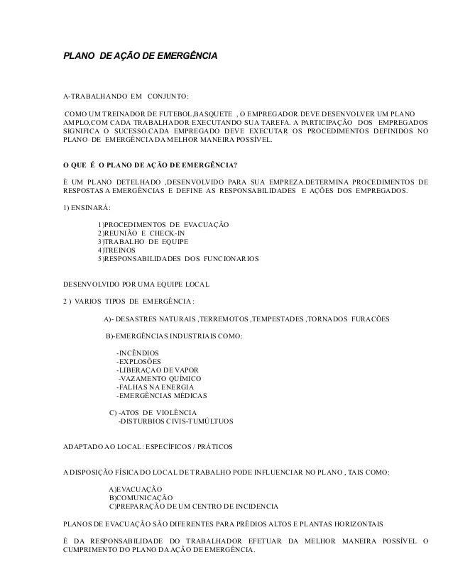 PLANO DE AÇÃO DE EMERGÊNCIA  A-TRABALHANDO EM CONJUNTO: COMO UM TREINADOR DE FUTEBOL,BASQUETE , O EMPREGADOR DEVE DESENVOL...