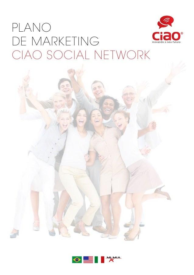 PLANO DE MARKETING CIAO SOCIAL NETWORK