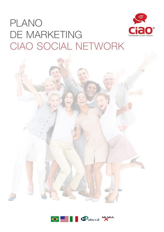 PLANO DE MARKETING CIAO SOCIAL NETWORK abevd