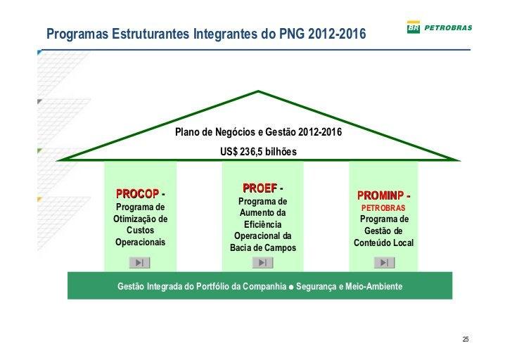 Programas Estruturantes Integrantes do PNG 2012-2016                          Plano de Negócios e Gestão 2012-2016        ...