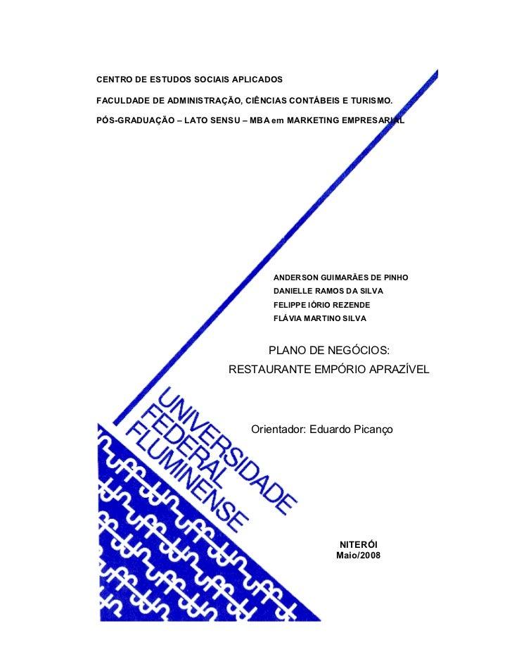 CENTRO DE ESTUDOS SOCIAIS APLICADOS  FACULDADE DE ADMINISTRAÇÃO, CIÊNCIAS CONTÁBEIS E TURISMO.  PÓS-GRADUAÇÃO – LATO SENSU...