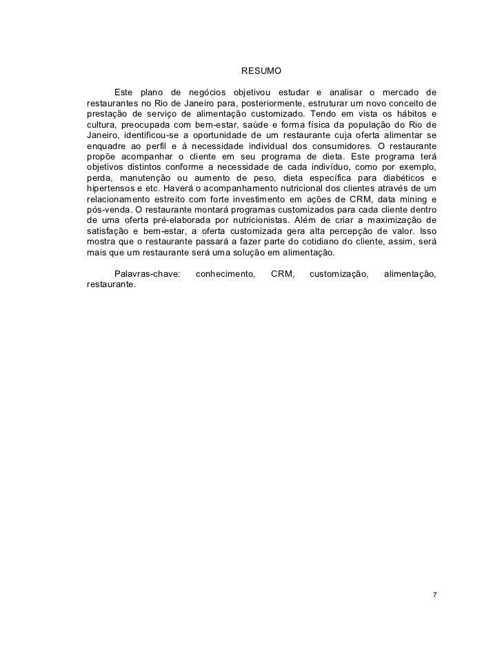 PLANO DE NEGÓCIOS: RESTAURANTE EMPÓRIO APRAZÍVEL