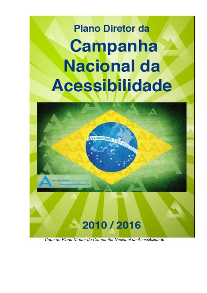 Capa do Plano Diretor da Campanha Nacional da Acessibilidade