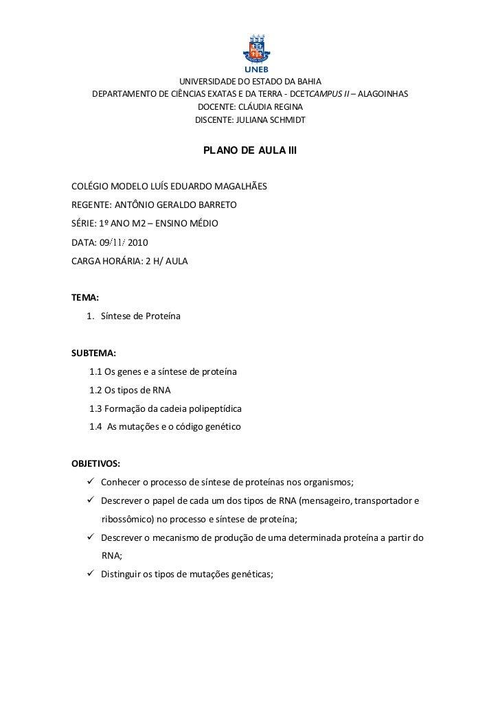 UNIVERSIDADE DO ESTADO DA BAHIA    DEPARTAMENTO DE CIÊNCIAS EXATAS E DA TERRA - DCETCAMPUS II – ALAGOINHAS                ...