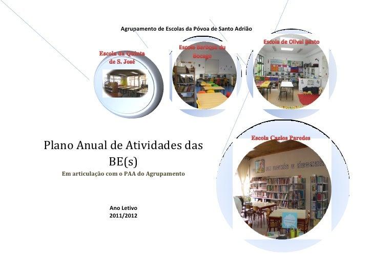 Agrupamento de Escolas da Póvoa de Santo AdriãoPlano Anual de Atividades das           BE(s)   Em articulação com o PAA do...
