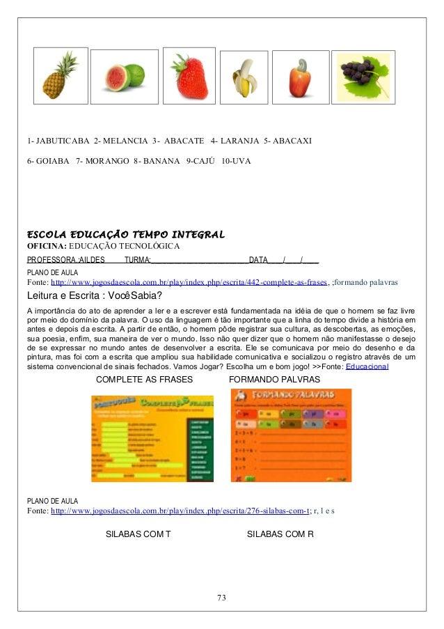 Plano de aula para oficina tecnol gica for Importancia de oficina wikipedia