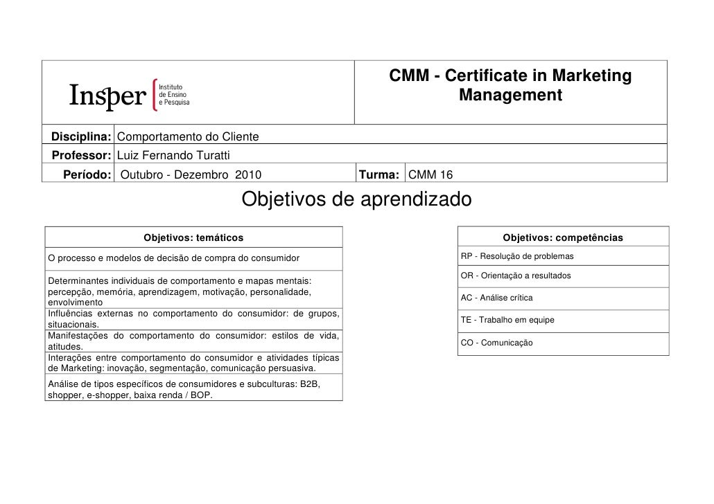 CMM - Certificate in Marketing                                                                                Management  ...