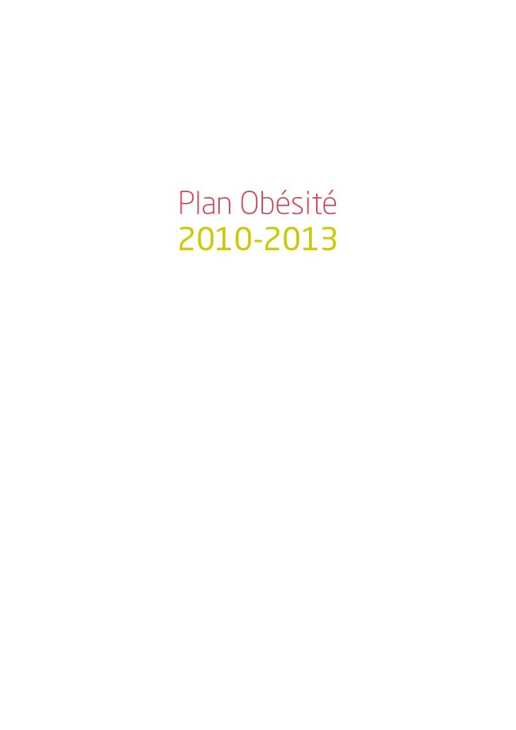 Plan obesite 2010_2013 Slide 2