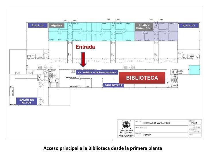 Entrada<br />BIBLIOTECA<br />Acceso principal a la Biblioteca desde la primera planta <br />