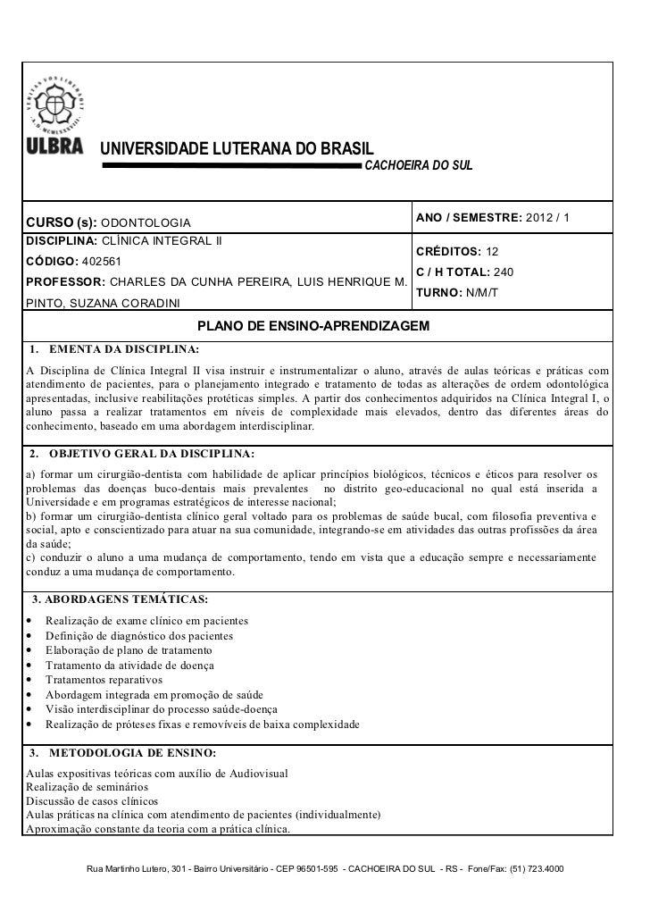 UNIVERSIDADE LUTERANA DO BRASIL                                                                              CACHOEIRA DO ...