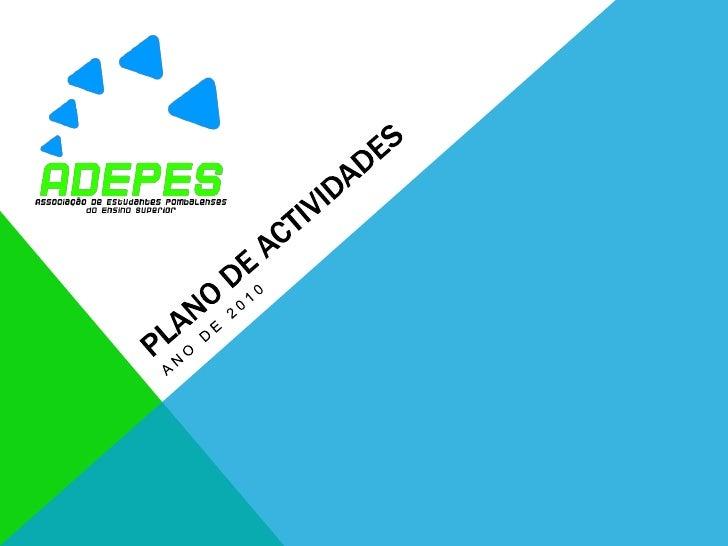 Plano de actividades<br />Ano de 2010<br />