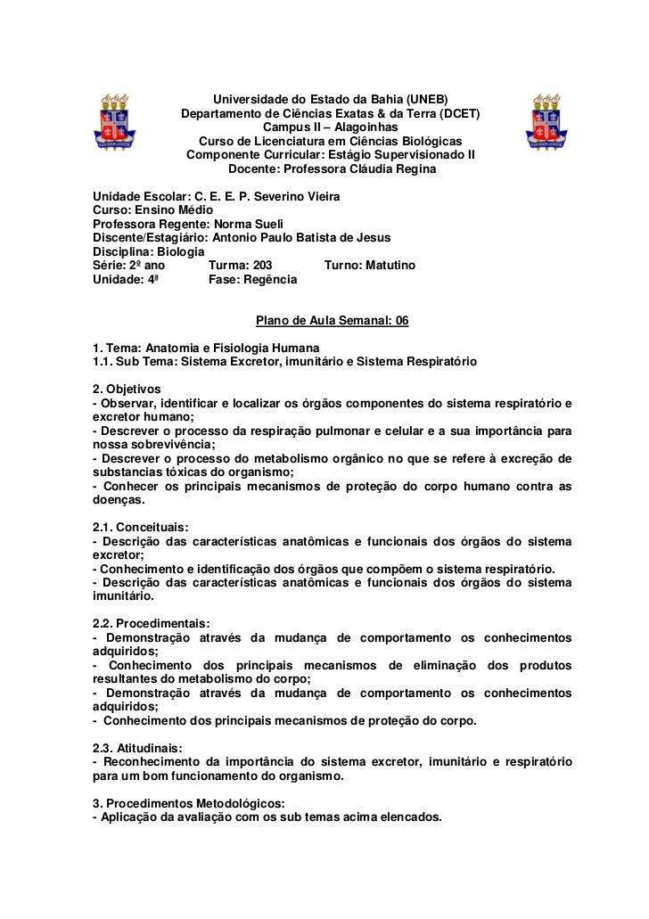 Universidade do Estado da Bahia (UNEB)               Departamento de Ciências Exatas & da Terra (DCET)                    ...