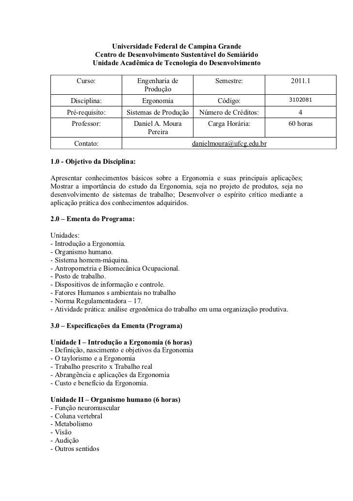 Universidade Federal de Campina Grande              Centro de Desenvolvimento Sustentável do Semiárido              Unidad...