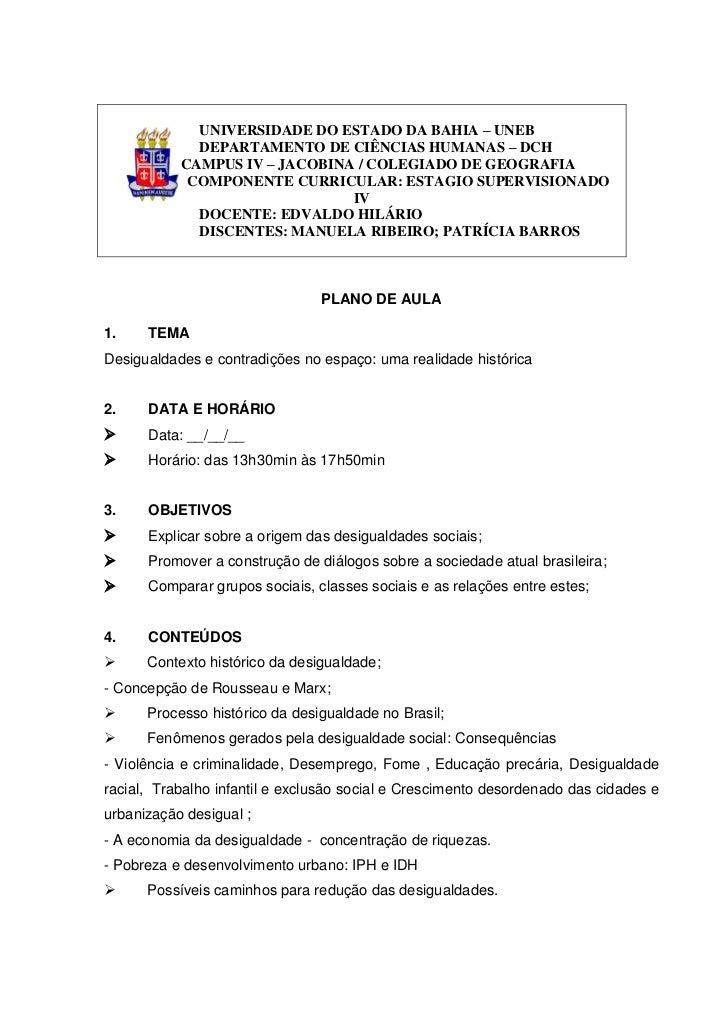 UNIVERSIDADE DO ESTADO DA BAHIA – UNEB             DEPARTAMENTO DE CIÊNCIAS HUMANAS – DCH           CAMPUS IV – JACOBINA /...