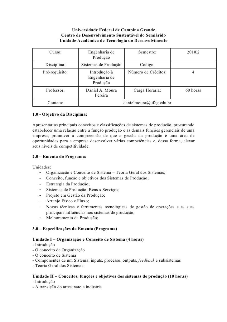 Universidade Federal de Campina Grande               Centro de Desenvolvimento Sustentável do Semiárido               Unid...