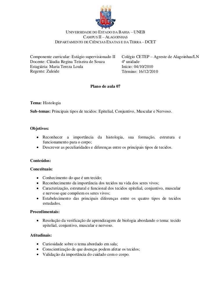 UNIVERSIDADE DO ESTADO DA BAHIA – UNEB                            CAMPUS II – ALAGOINHAS               DEPARTAMENTO DE CIÊ...