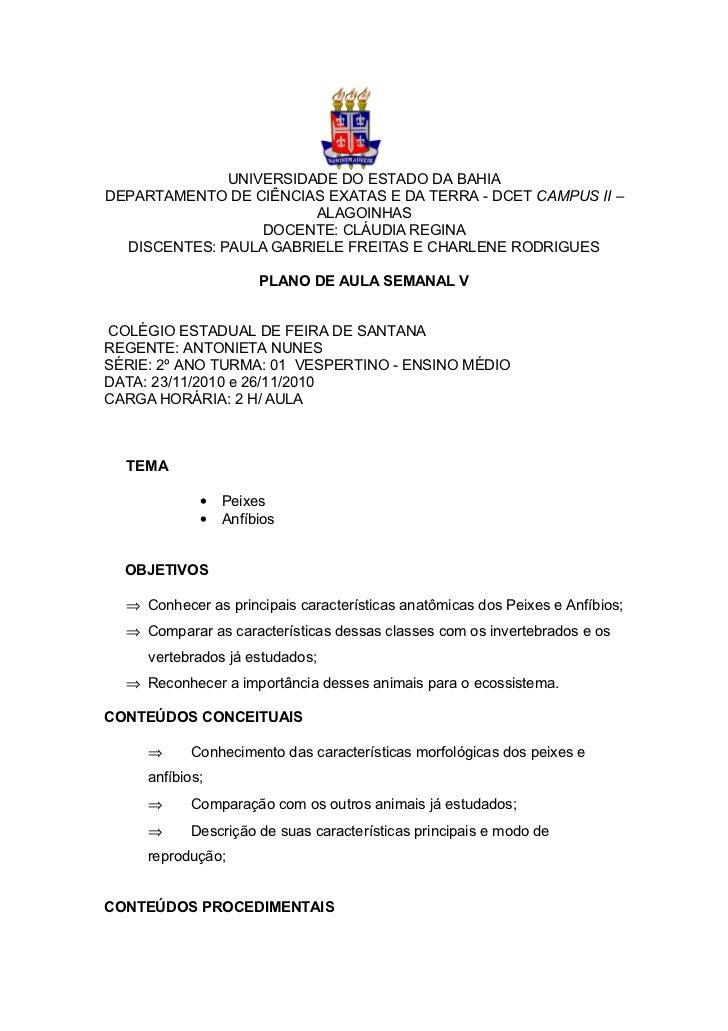 UNIVERSIDADE DO ESTADO DA BAHIADEPARTAMENTO DE CIÊNCIAS EXATAS E DA TERRA - DCET CAMPUS II –                        ALAGOI...