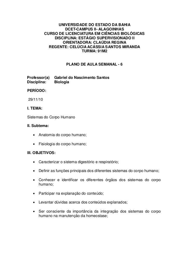 UNIVERSIDADE DO ESTADO DA BAHIA                    DCET-CAMPUS II- ALAGOINHAS           CURSO DE LICENCIATURA EM CIÊNCIAS ...