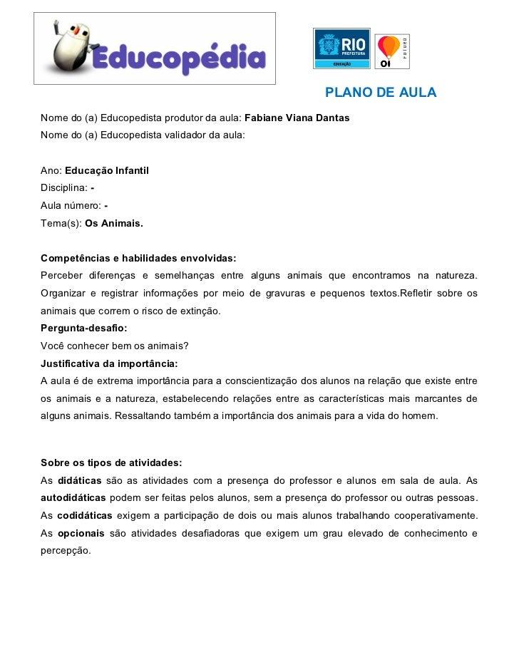 Top Plano de Aula Educopédia 2011 - Fabiane Viana Dantas - Educação Infan… TX43