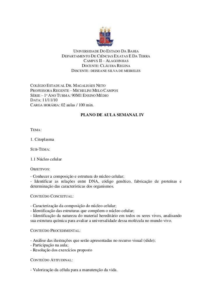 UNIVERSIDADE DO ESTADO DA BAHIA                     DEPARTAMENTO DE CIÊNCIAS EXATAS E DA TERRA                            ...
