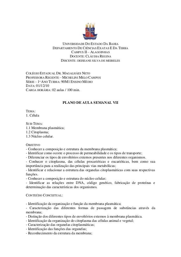 UNIVERSIDADE DO ESTADO DA BAHIA                  DEPARTAMENTO DE CIÊNCIAS EXATAS E DA TERRA                            CAM...